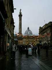 Greys Monument, rainy December afternoon 2001